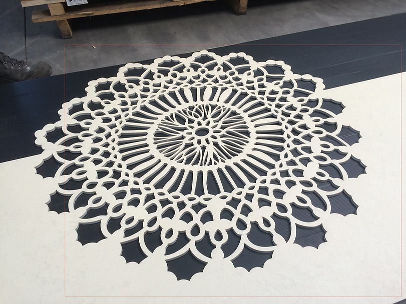 Hun laver kniplinger i linoleum - Forbundet Arkitekter og Designere